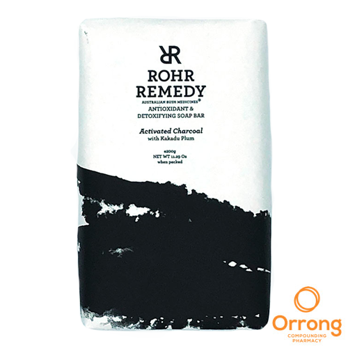 rohr remedy charcoal soap with kakadu plum oil orrong compounding