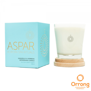 aspar gingerlily and verbena refreshing candle